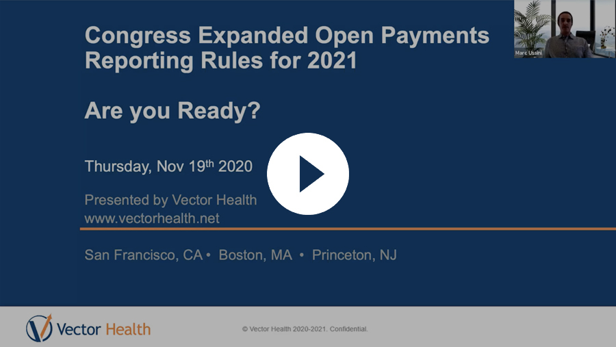 Open Payments Reporting Rules for 2021